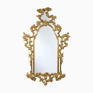 Miroir Vintage Style Régence en Bois Doré