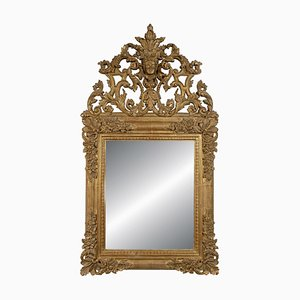 Vintage Chippendale Style Gold Wooden Mirror, 1970s