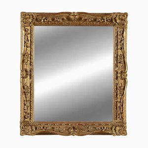 Empire Style Spanish Gold Wooden Mirror, 1970s
