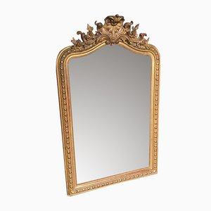 Grand Miroir Doré Style Louis-Philippe 19e Siècle, France