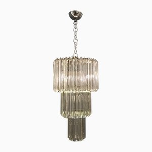 Large Vintage Murano Glass Chandelier by Paolo Venini, 1970s