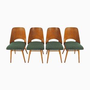 Esszimmerstühle von UP Závody, 1960er, 4er Set