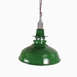 Große industrielle Fabriklampe von Thorlux, 1950er