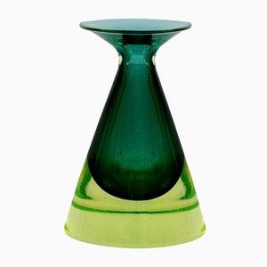 Jarrón Sommerso vintage de cristal de Murano de Flavio Poli para Seguso, años 50