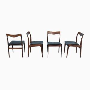 Rosewood Dining Chairs from AWA Meubelfabriek, 1960s, Set of 4
