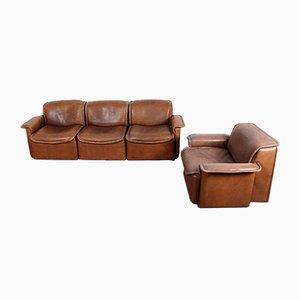 Juego de sofá y butaca modelo DS12 de de Sede, años 70