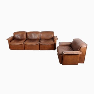 Model DS12 Sofa and Armchair Set from de Sede, 1970s