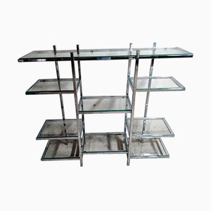 Vintage Chrome Wall Shelf, 1970s