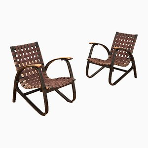 Vintage Lounge Chairs by Jan Vaněk for UP Závody, Set of 2