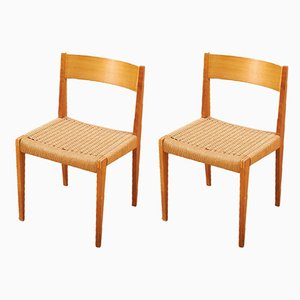 Model PIA Dining Chairs by Poul Cadovius for Girsberger, 1950s, Set of 2