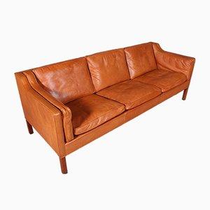Sofá de dos plazas modelo 2213 de Børge Mogensen para Fredericia, años 70