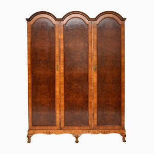 Antique Burr Walnut Tripod Wardrobe