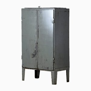 Vintage Industrial Iron Cabinet, 1960s