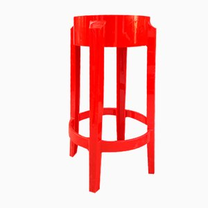 Red Stools by Philippe Starck for Kartell, Set of 2