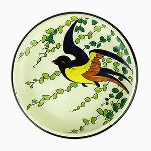 Dekorativer Art Déco Teller von Charles Catteau für Keramis, 1930er