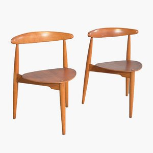Model FH 4103 Dining Chairs by Hans J. Wegner for Fritz Hansen, 1952, Set of 5