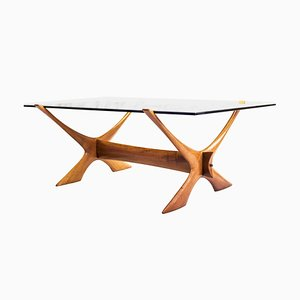 Mid-Century Swedish Teak Coffee Table by Fredrik Schriever-Abeln for Örebro Glasindustri, 1960s