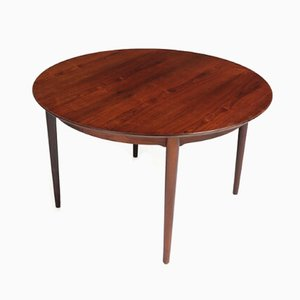 Rosewood Round Dining Table from Dansk, 1960s
