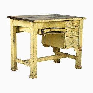 Mesa de trabajo de orfebres de roble, siglo XIX