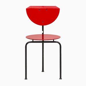 Schreibtischstuhl aus Stahl & Faserplatte von Carlo & Gianni Forcolini für Alias, 1980er