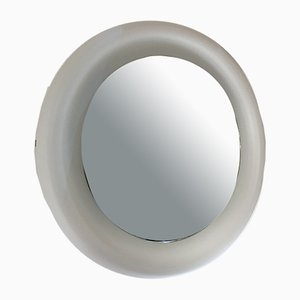 Italian Curved Glass Mirror from Fontana Arte, 1970s