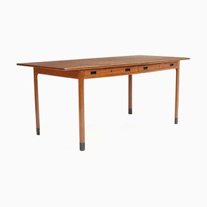Mahogany Desk by Ole Wanscher for AJ Iversen, 1950s