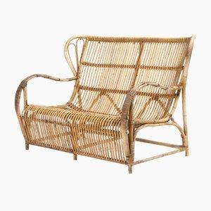Sofa aus Bambus von R. Wengler, 1960er