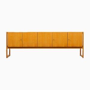 Large Vintage Ash Veneer Sideboard, 1960s