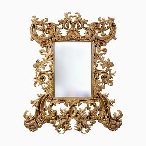 Vintage Spanish Giltwood Chippendale Mirror, 1970s