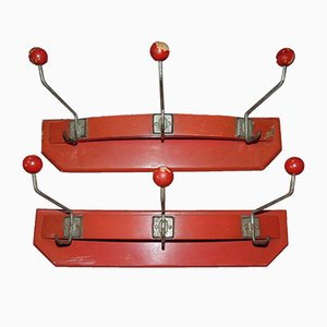 Vintage Wooden Coat Rack, 1950s