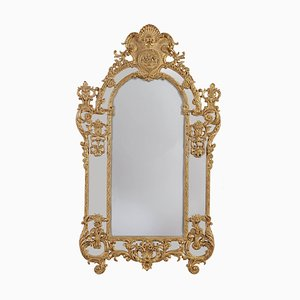 Vintage Regency Style Gilded and Carved Wood Mirror, 1970s