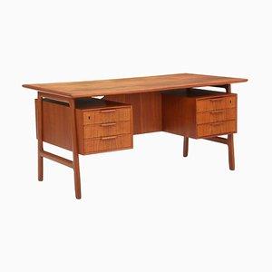 Teak Desk by Gunni Omann for Omann Jun's Møbelfabrik, 1950s