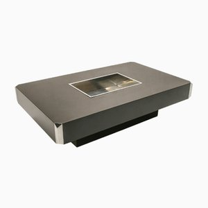 Vintage Coffee Table with Dry Bar by Willy Rizzo for Mario Sabot, 1970s