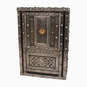 19th Century Italian Wrought Iron Studded Safe