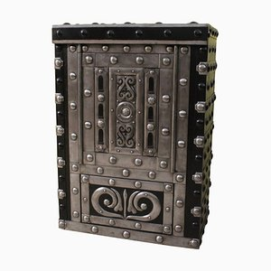 Antique Italian Wrought Iron Studded Safe