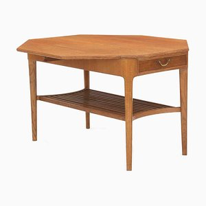 Octagonal Coffee Table by Chr. Fallesen for P. Nielsen, 1940s