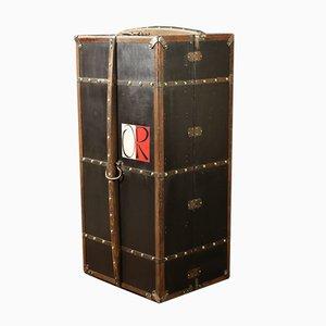 Schwarzer Vintage Koffer von Moynat, 1910er