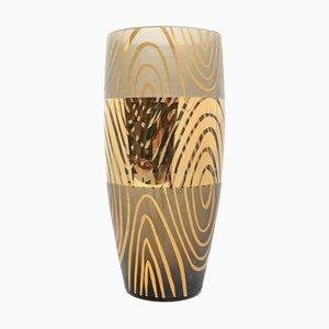 Hollywood Regency Style Smoked Glass Vase from Novy Bor, 1960s