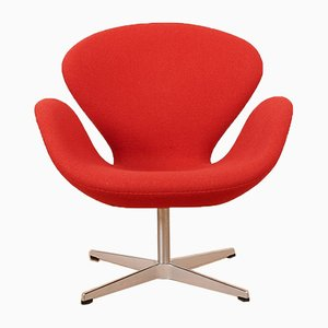 Mid-Century Model 3320 Swan Lounge Chair by Arne Jacobsen for Fritz Hansen, 1950s