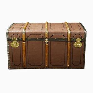 Baúl de viaje de madera curvada de Alphonse Adam, años 20