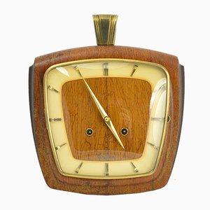 Horloge Mécanique Mid-Century en Palissandre de VEB Dugena, Allemagne, 1950s