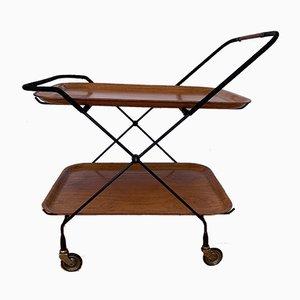 Chariot de Bar par Paul Nagel pour JIE Gantofta, Suède, 1950s