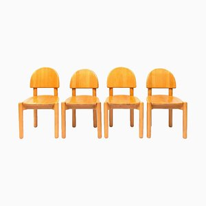 Vintage Danish Beech Dining Chairs by Rainer Daumiller, Set of 4