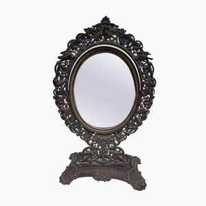 19th Century Cast Iron Polychrome Mirror