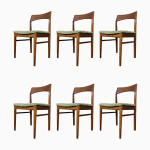Mid-Century Teak Dining Chairs by Henning Kjærnulf for Vejle Mobelfabrik, Set of 6