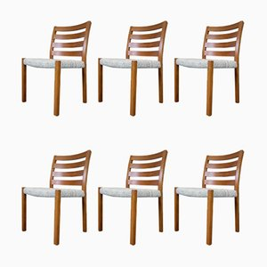 Mid-Century Teak Dining Chairs by Niels Otto Møller for J.L. Møllers, Set of 6