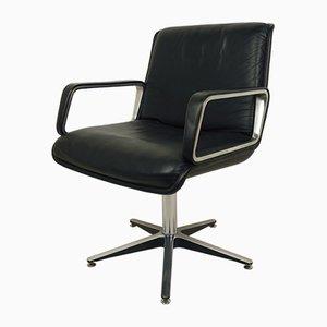 Chaise de Bureau Pivotante Noire par Delta Design pour Wilkhahn, Allemagne, 1970s
