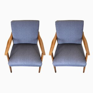 Mid-Century Danish Lounge Chairs, Set of 2