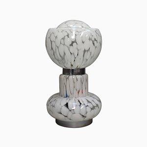 Lámpara de mesa italiana grande de cristal de Murano, años 70
