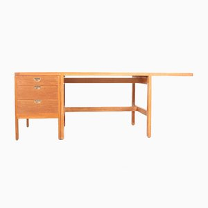 Mid-Century Danish Oak Desk by Børge Mogensen for P. Lauritsen & Søn, 1950s